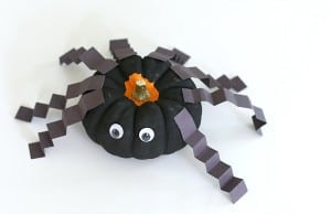 Spider Craft for Kids Using Mini Pumpkins