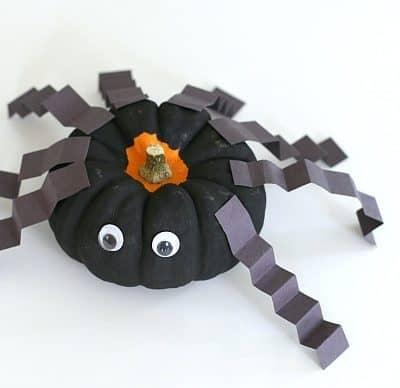 Spider Craft for Kids Using Mini Pumpkins