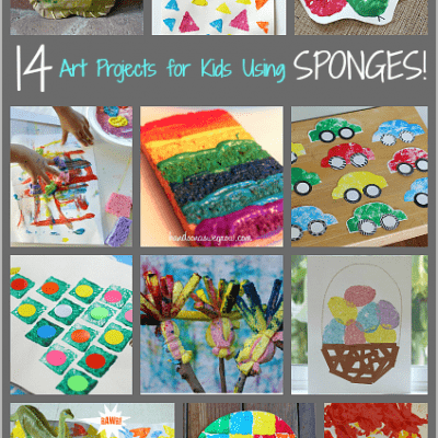 14 Art Projects for Kids Using Sponges
