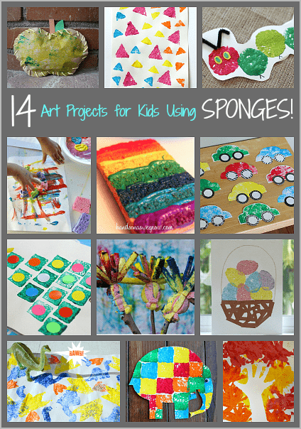 14 art projects for kids using sponges buggy and buddy. Black Bedroom Furniture Sets. Home Design Ideas