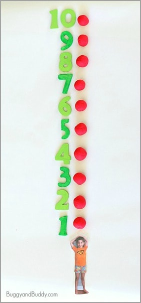 Ten Apples Up On Top! Playdough Activity for Kids~ BuggyandBuddy.com