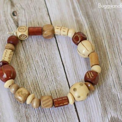 Bracelet Craft for Kids with DIY Embellished Beads