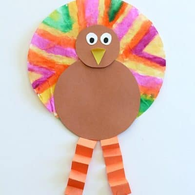 Easy Thanksgiving Crafts for Kids: Coffee Filter Turkey Craft