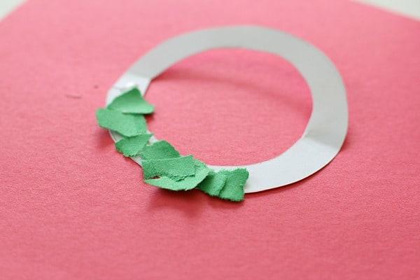 tear art christmas ornament for kids