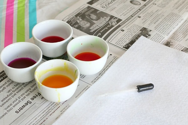 materials for watercolor art for kids using felt