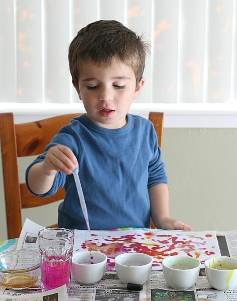 exploring watercolors with kids