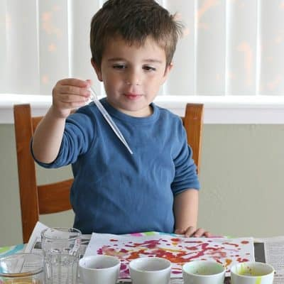 Process Art for Kids: Watercolor Paint on Felt
