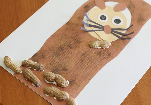 glue peanut shells onto your Nuts to You! craft for kids