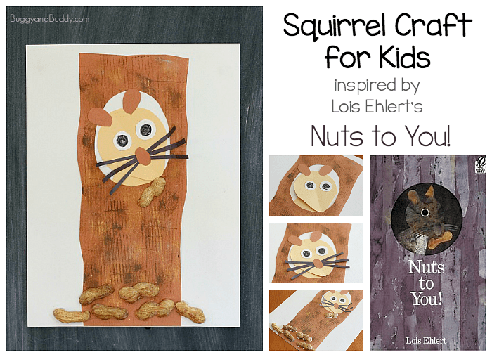 Squirrel Craft for Kids Inspired by Lois Ehlert's Nuts to You!