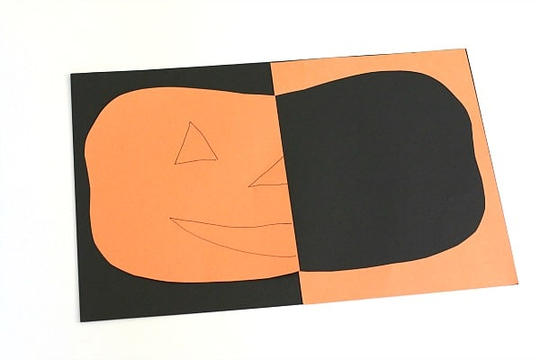 Positive and Negative Space Paper JackOLantern Craft  Buggy and