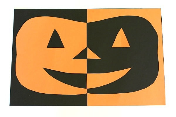 Positive and Negative Space Paper Jack-O-Lantern Craft ...