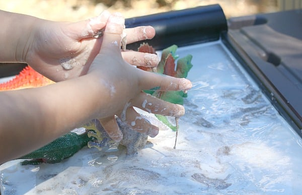 feeling sandy oobleck