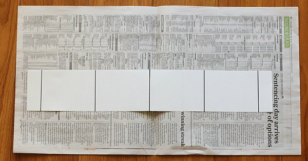 mark of sections on your strip of paper
