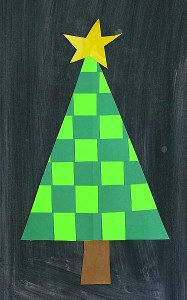 Christmas Crafts for Kids: Woven Paper Christmas Tree