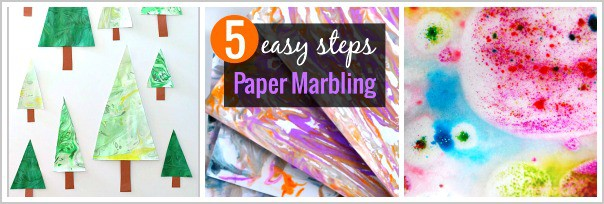 marbling paper with kids