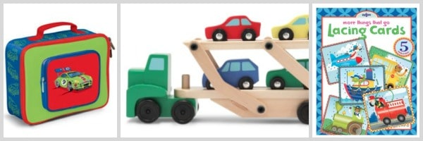 gift ideas for kids who love trucks and cars