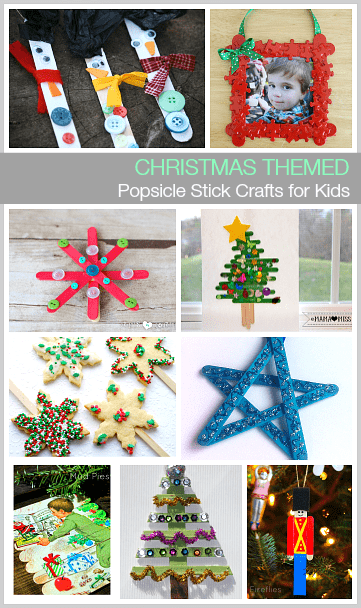 Christmas Themed Popsicle Stick Crafts For Kids Use Craft Sticks To Make Picture Frame Ornaments