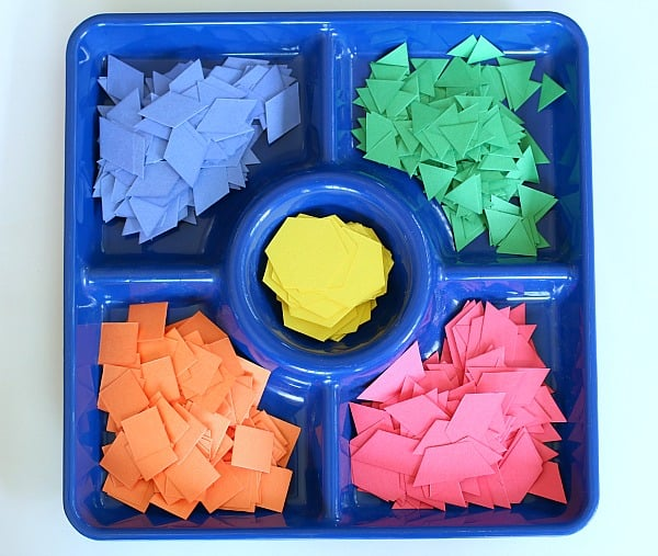 pattern block paper shapes