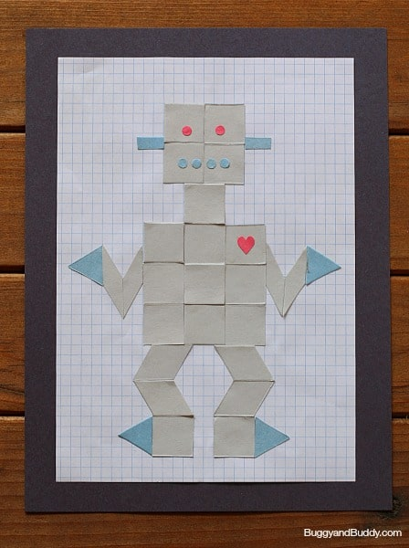 robot craft using paper shapes