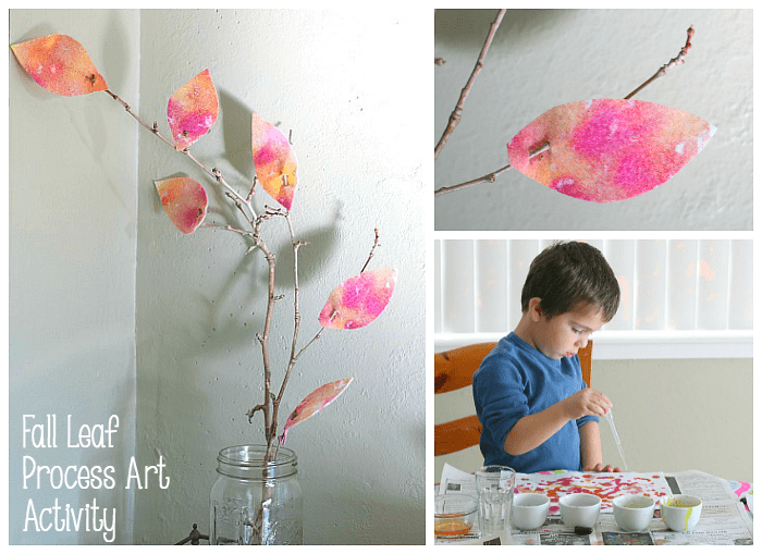 Felt Fall Leaf Process Art Activity for Kids