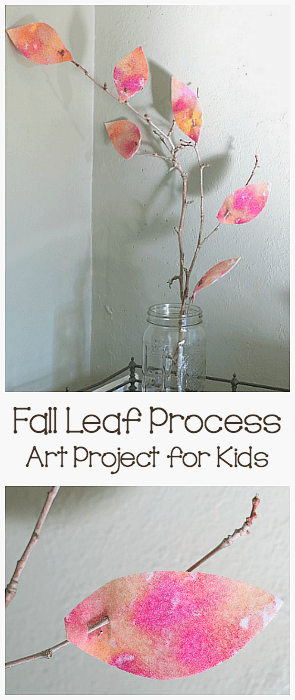 Felt Fall Leaf Process Art Project for Kids: Make this beautiful autumn decoration for your home or classroom using felt and natural materials! ~ BuggyandBuddy.com