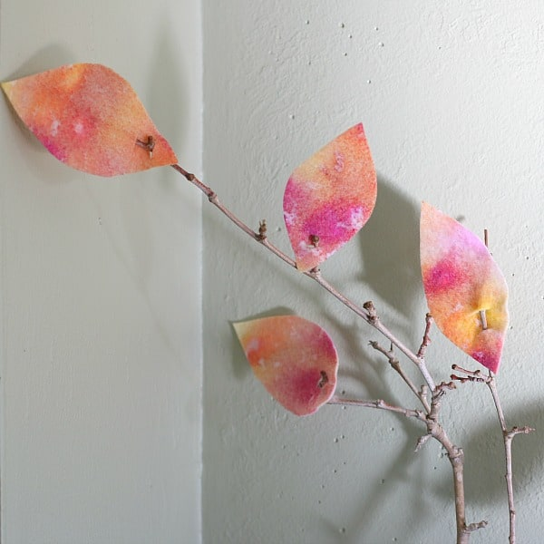 Fall Crafts for Kids: Watercolored Felt Leaves~ BuggyandBuddy.com