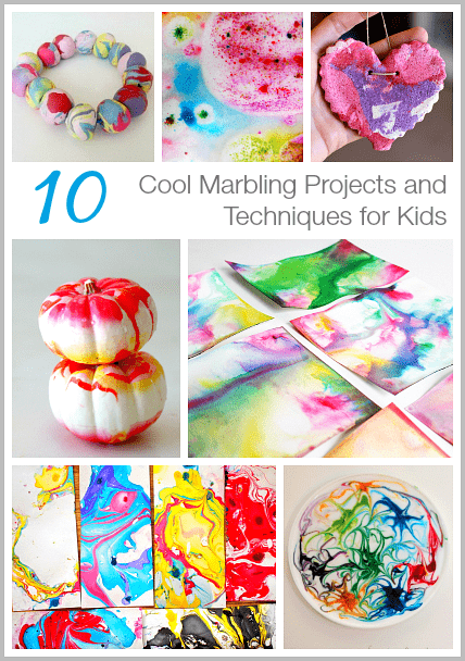 10 Cool Marbling Techniques and Projects for Kids~ on BuggyandBuddy.com