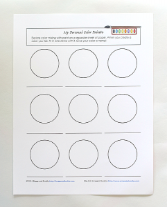 My Personal Paint Palette- Free Printable for Color Mixing