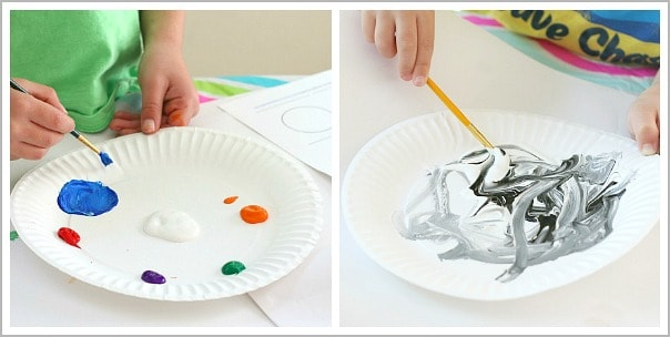 Color Mixing with Paint