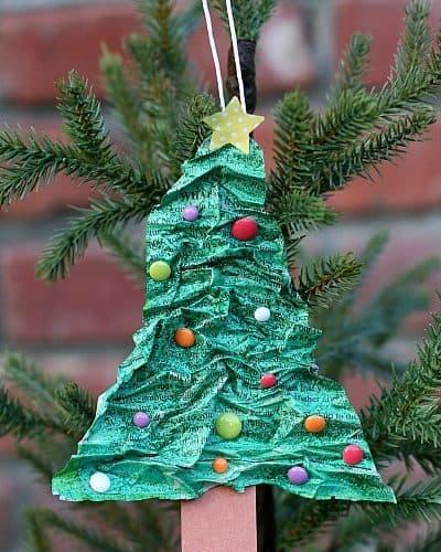 Paper Mache Christmas Tree Ornament~ BuggyandBuddy.com