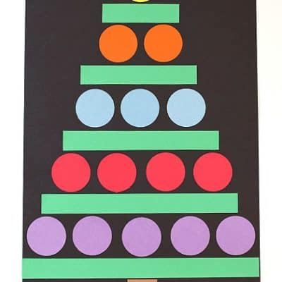 Christmas Crafts for Kids: Paper Shape Christmas Tree