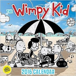 wimpy kid calendar