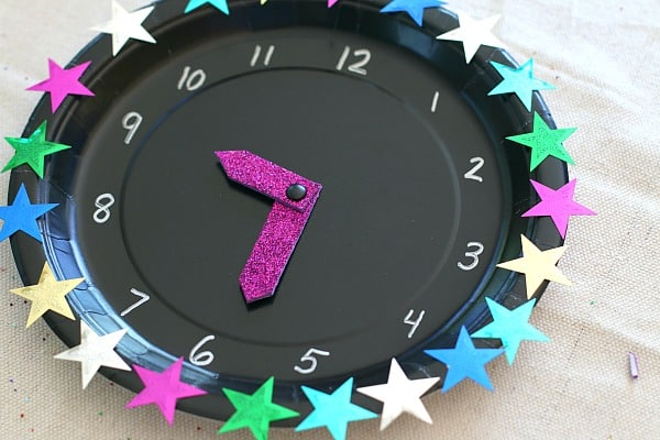 embellish your clock with star sequins