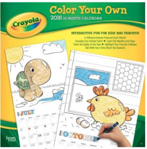 crayola color your own calendar