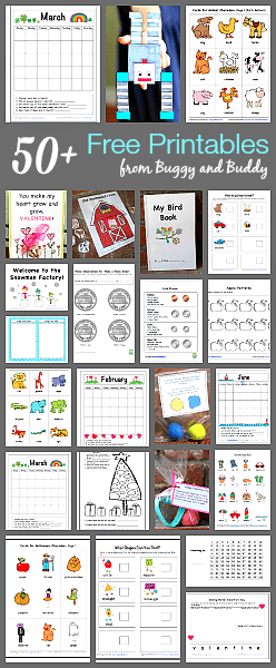 Over 50 Free Printables for Kids from BuggyandBuddy.com
