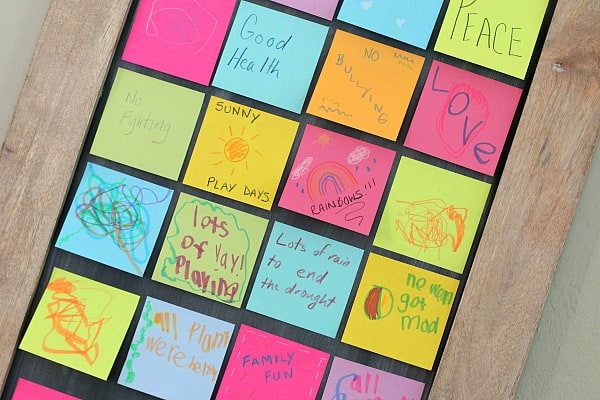 Create a Wishing Wall- New Year's Eve Activity for Kids and Family
