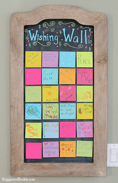 New Year's Eve activity for kids and family- Create a Wishing Wall! ~ BuggyandBuddy.com