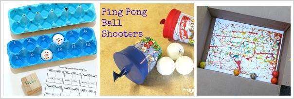 fun ways to use ping pong balls