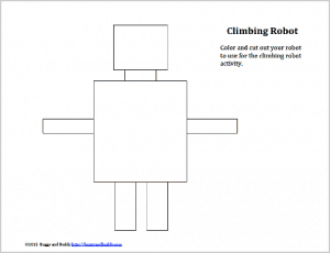 free printable robot template for climbing robot