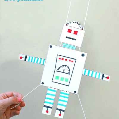 STEM Activity for Kids: Free Printable Gliding Robot
