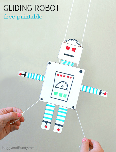 Stem Activity For Kids Free Printable Gliding Robot Buggy And Buddy