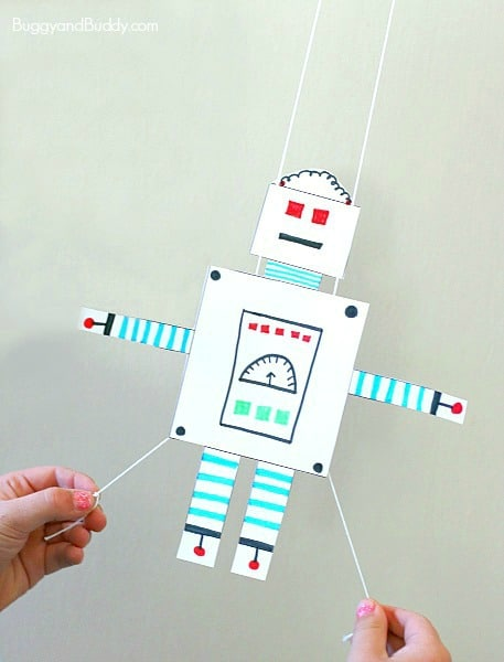 Free Printable Robot Glider Craft for Kids