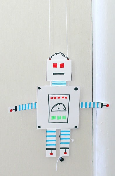 free printable climbing robot craft for kids