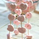 Heart Marshmallow Toothpick Structures