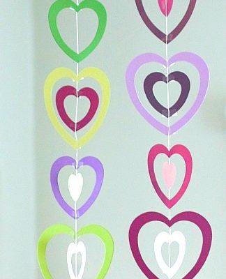 Valentine Crafts for Kids: Paper Heart Mobile
