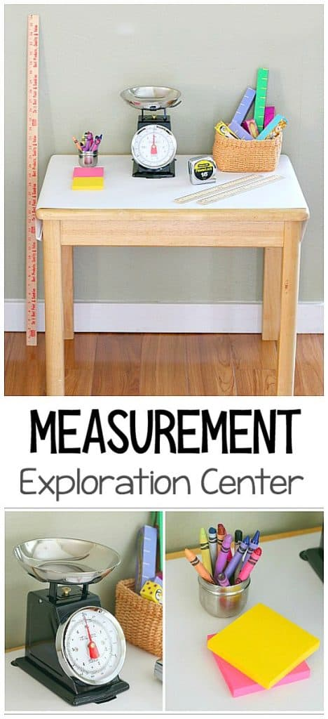 Measurement Exploration Center: Hands-on measurement activities for kids- math for preschool and kindergarten