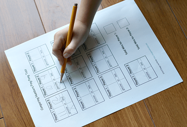 free printable scoresheet for comparing numbers game