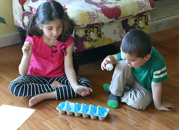 Comparing Numbers: Ping Pong Ball Tossing Math Game for Kids