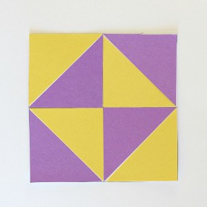 Geometry for Kids: Quilt Activity Using Triangles (Free Printable)