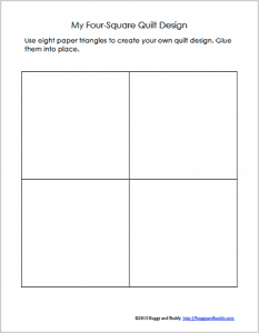 free printable four-square quilt template